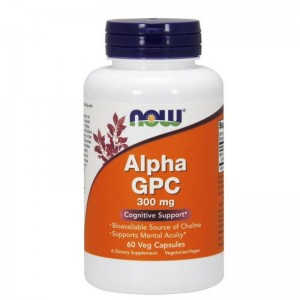 Alpha GPC 300mg 60 kapsułek  Now Foods Alfa GPC