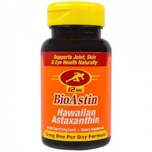 Astaksantyna BioAstin Nutrex Hawaii, 12 mg, 50 Gel Caps