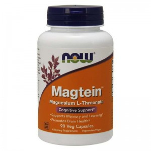 Magtein Magnez Now Foods 90 kaps.  Treonian Magnezu Magnesium Threonate