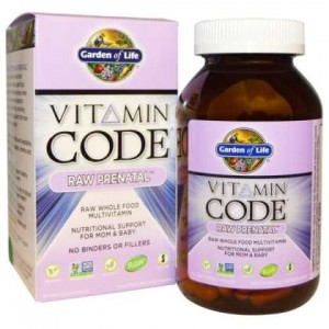RAW Prenatal Vitamin Code 90kaps. Garden of Life Multiwitaminy