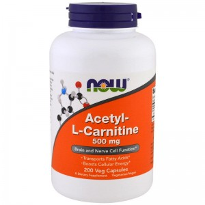 Acetyl L-Karnityna 500mg Now Foods 200kaps. L-Carnitine