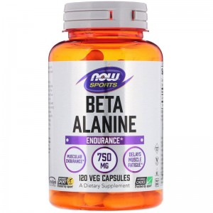 Beta-Alanina 750mg Now Foods 120kaps.