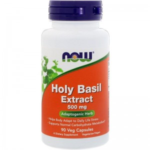 Holy Basil Extract 500mg Now Foods 90kaps