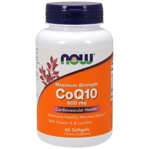 CoQ10 600 mg Now Foods 60kaps.