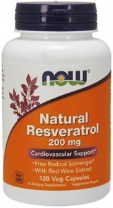 Naturalny Resweratrol 200mg  Now Foods 120kaps. Resveratrol